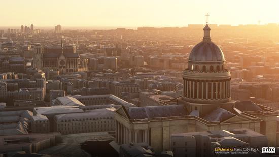 《微软飞行模拟》更新插件包巴黎站