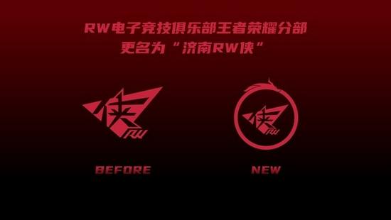 《【煜星注册平台】RW电子竞技俱乐部王者荣耀分部 - RW侠 获得济南城市冠名》