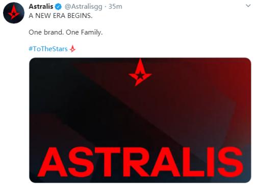 OG官宣:战队正式更名为Astralis