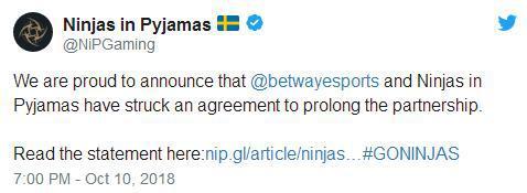 我们骄傲的宣布Betway和NIP已经签署了延长合作关系的协议