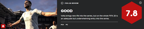 《FIFA20》评分解禁!均分82 街球新模式拯救游戏