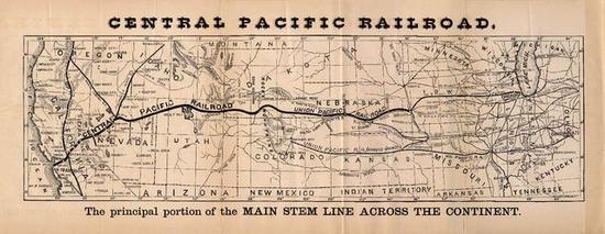 太平洋铁路完整路线图,全长超过3000公里