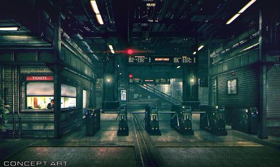 一号街车站概念原画