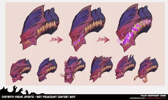 科加斯头部设计过程