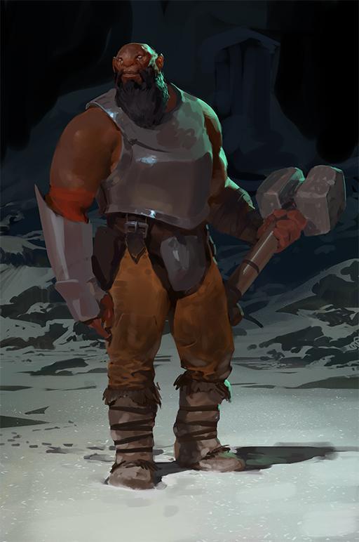 疑似红雾军团士兵造型,亦可能为斧王早期造型。
