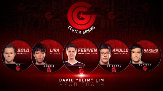 Clutch Gaming战队阵容/图:CG战队官推