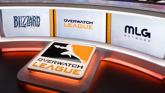 Analyst desk at Overwatch League