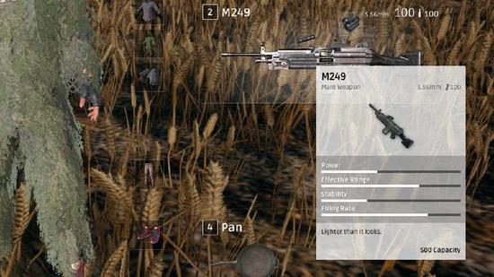 一般情况下大家在空投中见到M249都会直接拿走子弹,至于枪?谁爱拣谁拿走……