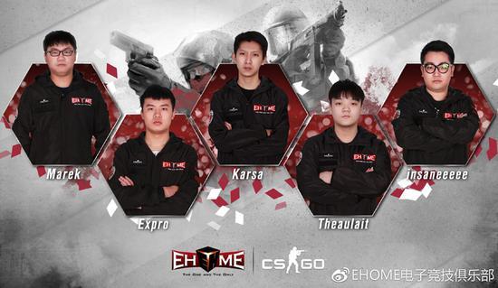 EHOME CS:GO阵容海报
