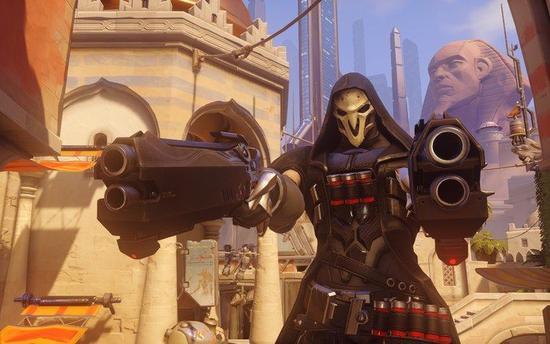 """""""死神""""是一个前""""暗影守望""""的角色,使用两把""""地狱火""""霰弹枪战斗"""