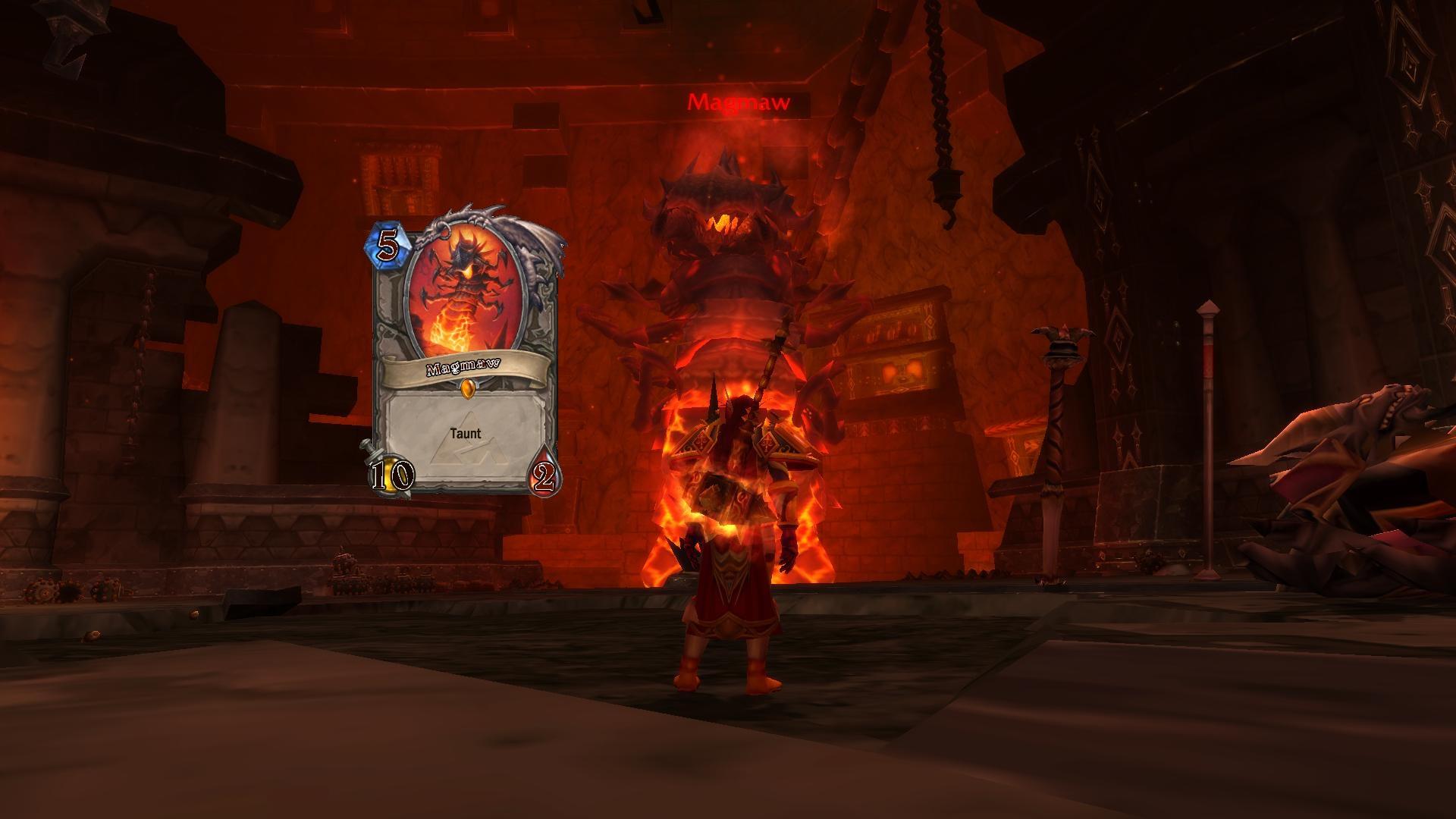 魔兽世界中的炉石卡牌原型