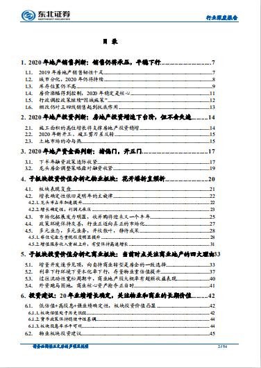 房地产行业2020年度投资策略:业绩为王 潜心耕耘(可下载)