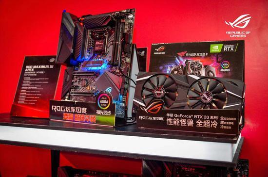 ROG MAXIMUS XI APEX主板和DUAL GeForce RTX 2080 Ti显卡