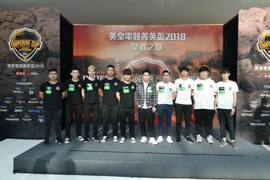 英皇电竞职业队伍 G-REX PUBG及G-REX INFINITE在台上分享比赛心得。