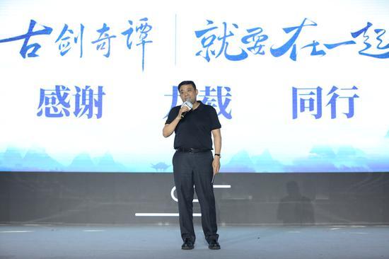 随后网元圣唐CEO孟宪明上台致辞,感谢大家九载同行