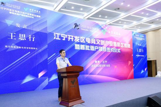 南京传媒学院电竞学院副院长王思行发言