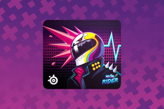 QcK Large Neon Rider霓虹骑士限量版鼠标垫