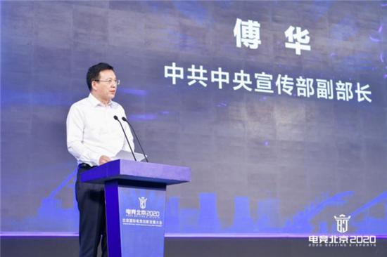 中共中央宣传部副部长傅华发表致辞
