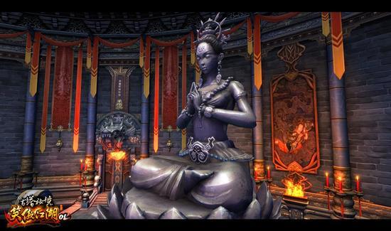 图3. 古塔秘境守护雕像