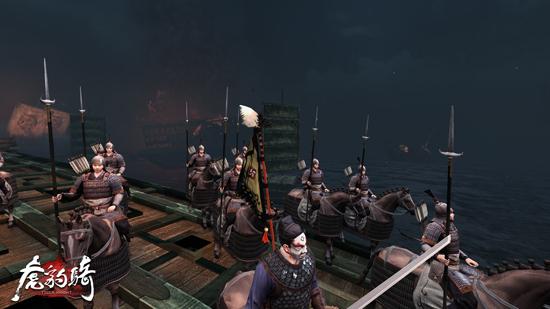 图4:连环船最大的好处就是防颠簸,战马都不懵逼了呢!