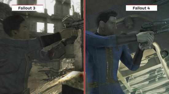 《辐射4》与《辐射3》相似场景画面对比