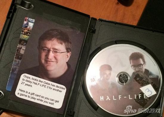 你信吗 外国玩家收到圣诞礼物《半条命3》图片