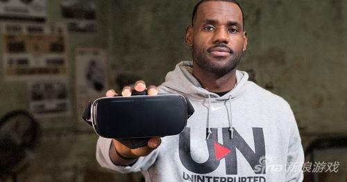 勒布朗詹姆斯拍摄VR设备广告