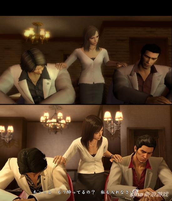 上图为PS2初代,下图为《如龙极》