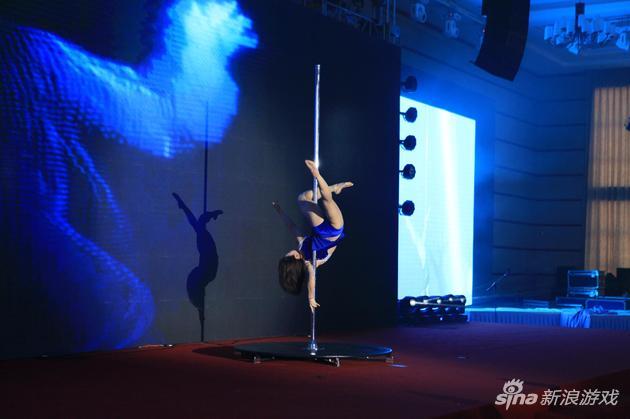 蓝港2016年会钢管舞表演