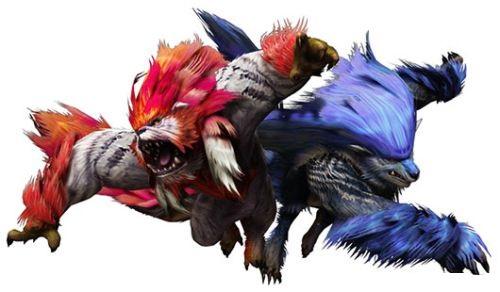 兽_电视游戏 正文页     青斗兽(レイゴウガルフ)   发现在峡谷的两头牙