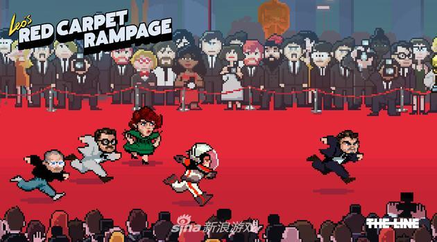 小李子拿小金人游戏《Red Carpet Rampage》