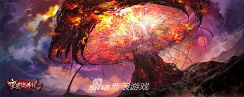 《蛮荒搜神记》世界观原画——扶桑树