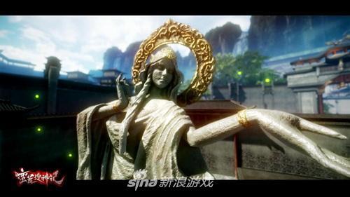 圣女神像纹理质感逼真