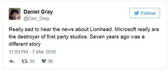 前狮头员工、《神鬼寓言3》制作人Daniel Gray怒斥微软