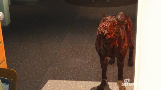 恐怖的丧尸犬