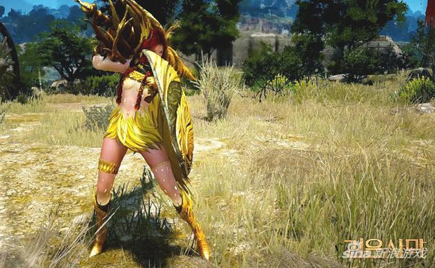 《黑色沙漠》女武神觉醒战斗截图