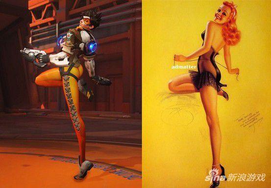 《守望先锋》猎空胜利姿势与性感模特如出一辙