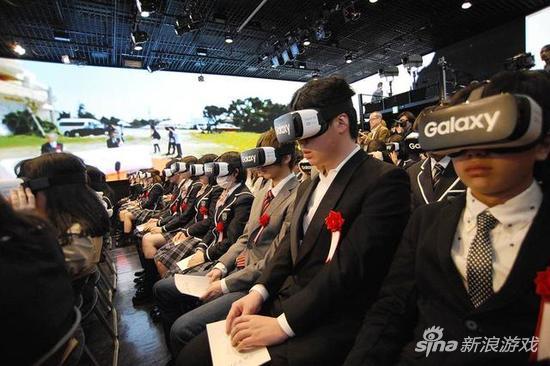 虚拟现实进入高中 日本网络学校开学典礼用VR