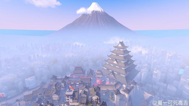 花村外的富士山和城市也都是实际存在的模型