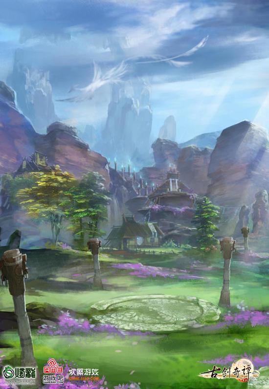 《古剑奇谭网络版》司命门派地局部概念图