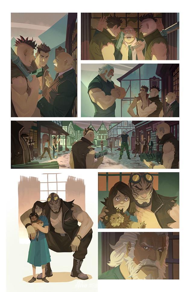 """《守望先锋》第二部漫画""""屠龙勇士"""""""