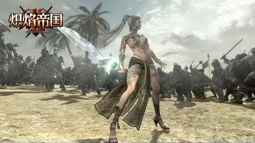 《炽焰帝国2》魔剑士指挥士兵战斗