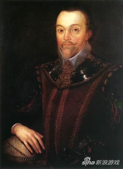 16世纪探险家佛朗西斯.德雷克