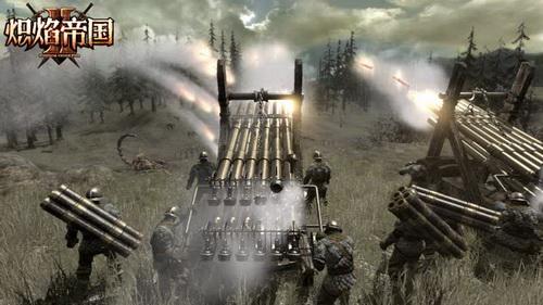 《炽焰帝国2》英雄指挥风琴炮远程炮击敌军