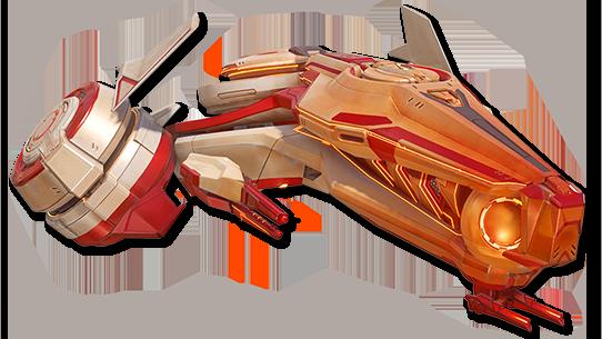 太阳神费顿号:为传奇级消耗型卡片,护甲和速度增加,配有追踪脉冲导弹和前置激光