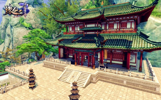 《诛仙3》重建的玉清殿