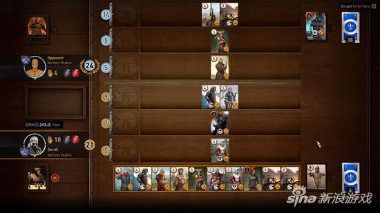 《巫师3》里的昆特牌迷你游戏