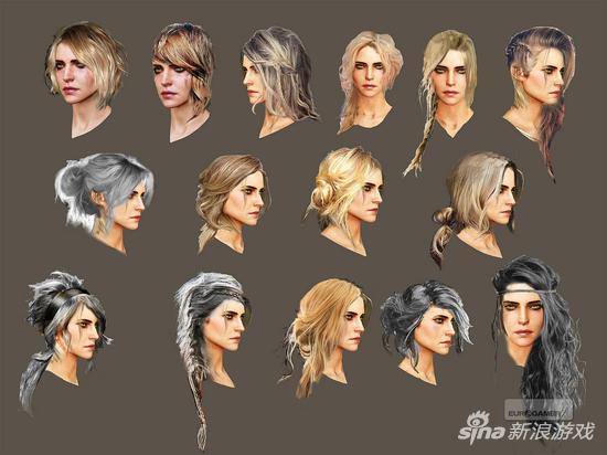 开发过程中 Ciri 若干个发型设计