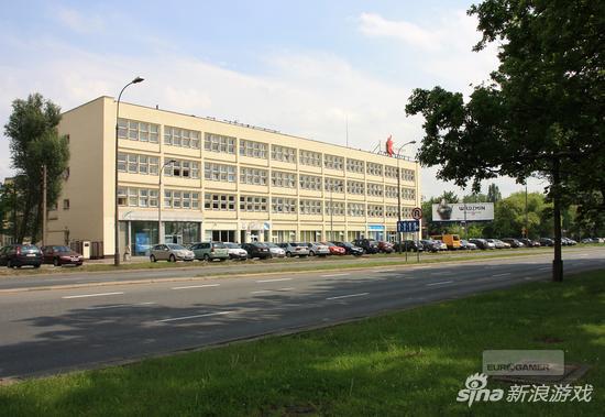 CD Projekt Red 办公楼外景图。平凡的外表下诞生了波兰、乃至全世界游戏行业的一个传奇。