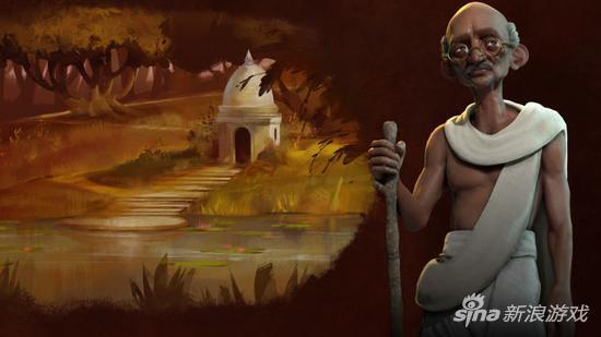 《文明6》印度领袖:甘地